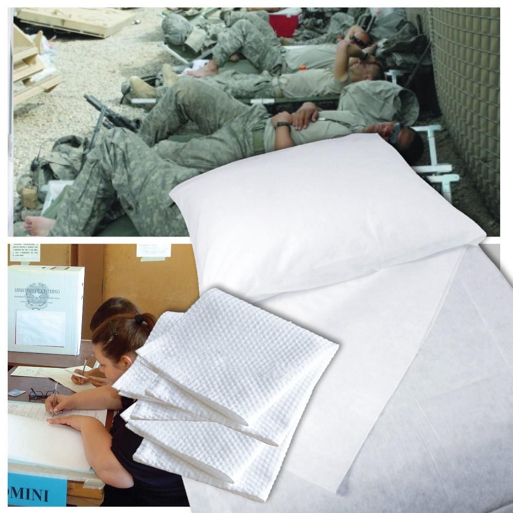 Kit 304 Kit Elezioni Monouso 2 Lenzuola In Tnt Cm 140x240 1 Federa In Tnt Cm 60x80 3 Asciugamani Per Militari E Forze Dell Ordine Medical Sud
